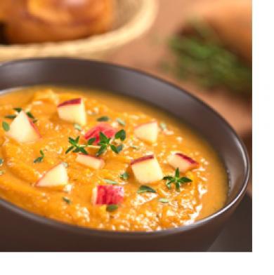 Apple, Celery, Sweet Potato Soup