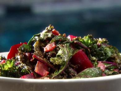 Raw Kale Salad with Roasted Beets