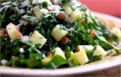Kale, Cucumber & Asian Pear Salad